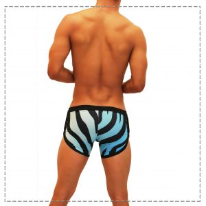 Short Curve Animal Azul