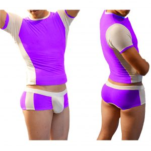 Coordinado Two Colors Boxer Morado